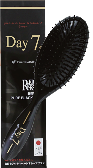 DAY7-もつれた髪をほぐす高機能ブラシ