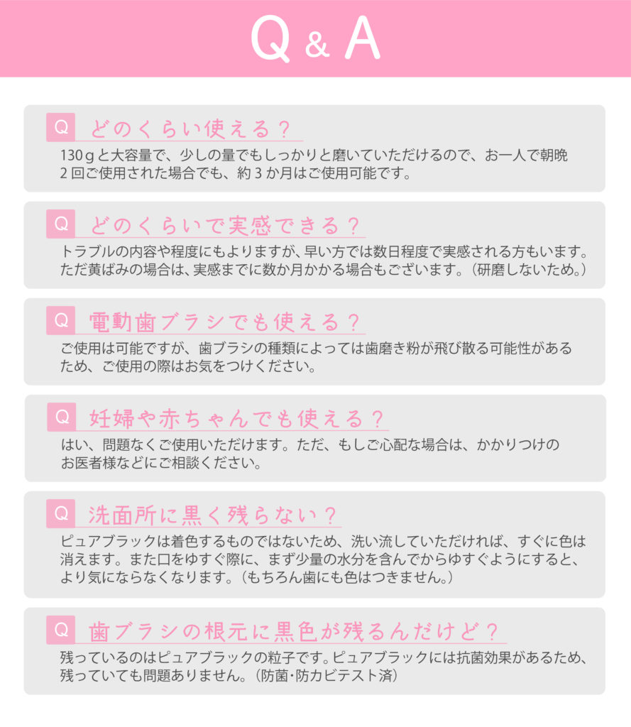 歯磨き粉FAQ